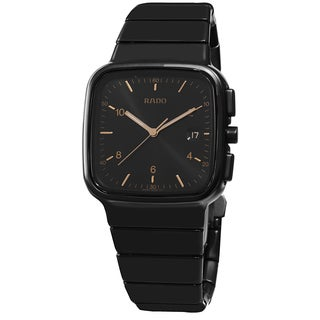 Rado Men's R28888172 'R5.5' Black Dial Black Matte Ceramic Swiss Quartz Watch
