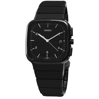 Rado Men's R28888162 'R5.5' Black Dial Black Ceramic Swiss Quartz Watch