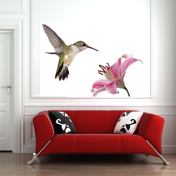 Shop Hummingbird Vinyl Wall Decal On Sale Free