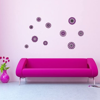 Retro Flowers Vinyl Wall Decals