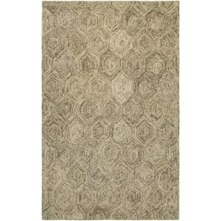 Graphite Hexagons Ivory/ Latte Rug (8' x 11')