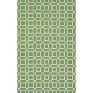 Bowery Havemeyer Fern/ Yellow Rug (7'9 x 10'7)
