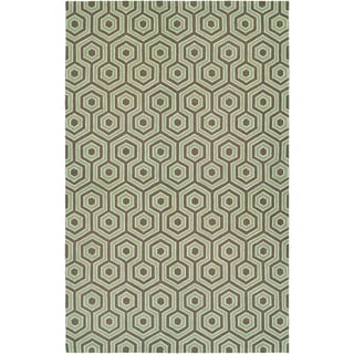Bowery Ainslie Brown/ Green Rug (7'9 x 10'7)