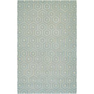 Bowery Ainslie Grey/ Sky Blue Rug (7'9 x 10'7)