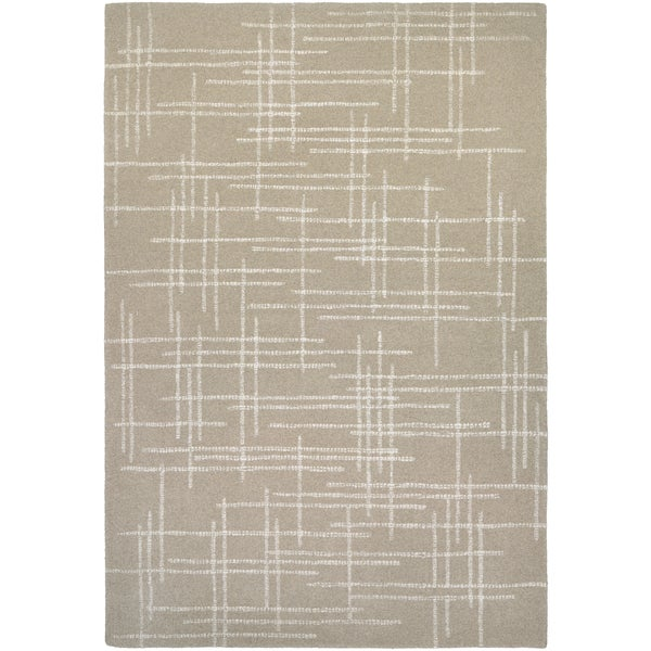 Hand-Crafted Barlow Linen Tan Area Rug - 8' x 11'