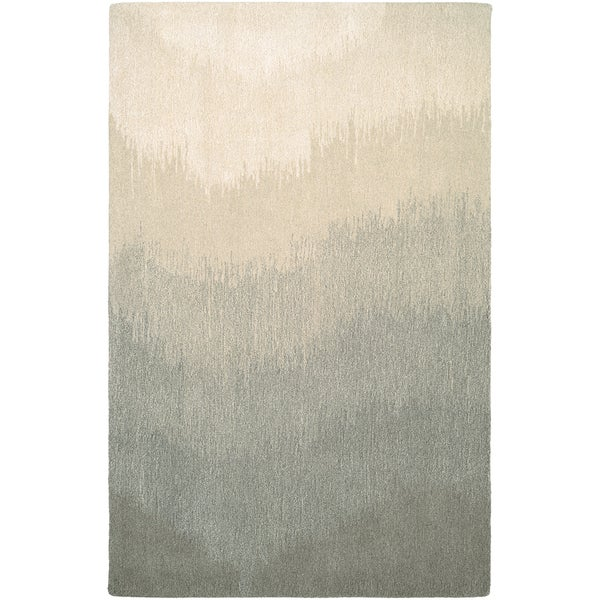 Hand-Crafted Barlow Ombre Gray Area Rug - 8' x 11'