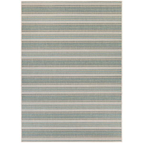 Monaco Marbella Blue Mist/ Ivory Rug (8'6 x 13') - 8'6 x 13'