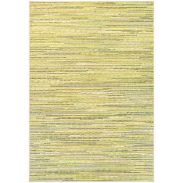 Samantha Yacht/ Sand-Lemon-Lime Indoor/Outdoor Rug - 5'3 x 7'6
