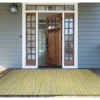 "Samantha Yacht Sand-Lemon-Lime Indoor/Outdoor Area Rug - 5'3"" x 7'6"""