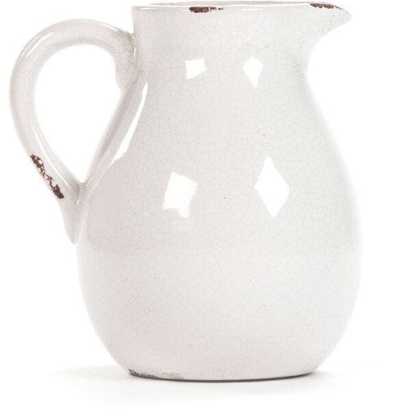 Victorian White Led Ceramic Pitcher Free Shipping On Orders Over 45 10031025