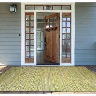 Samantha Yacht/ Sand-Lemon-Lime Indoor/Outdoor Rug - 5'10 x 9'2