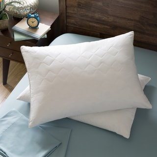 Hotel Madison 230 Thread Count Quilted Feather Pillow (Set of 2)