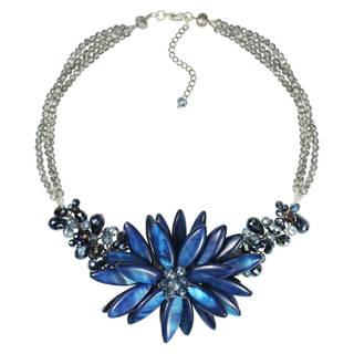 Handmade Nature's Zen Mother of Pearl Lotus Flower Necklace (Thailand)