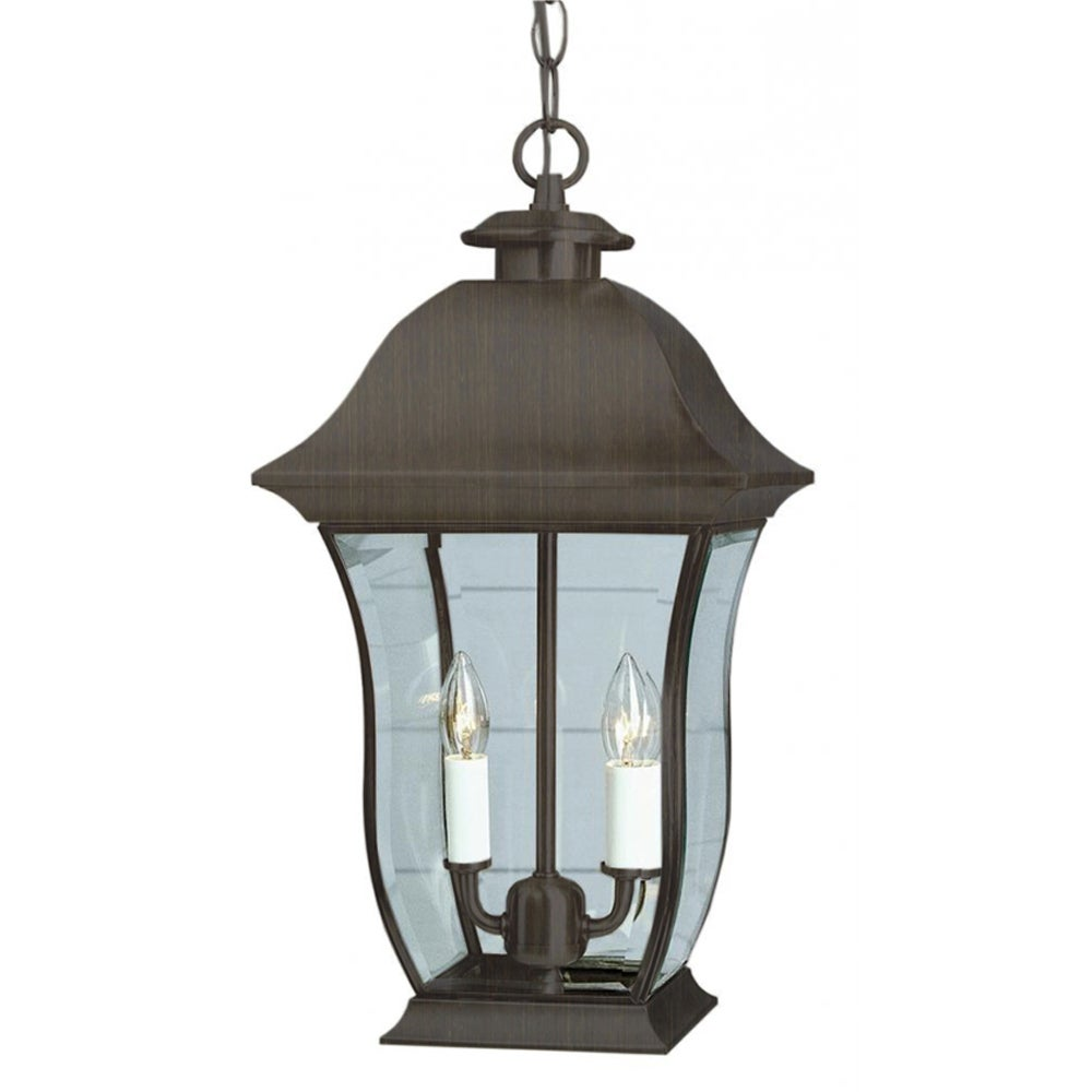 Trans Globe Cambridge 2-Light Weathered Bronze 18 in. Out...