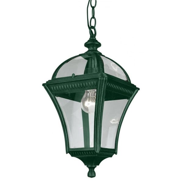 Cambridge 1 Light Verde Green 16 In Outdoor Hanging Lantern With Beveled Gl