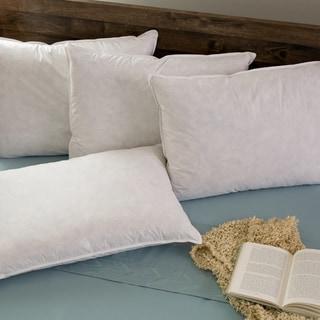 Hotel Madison TruLoft Medium Firm Feather Pillow (Set of 4)