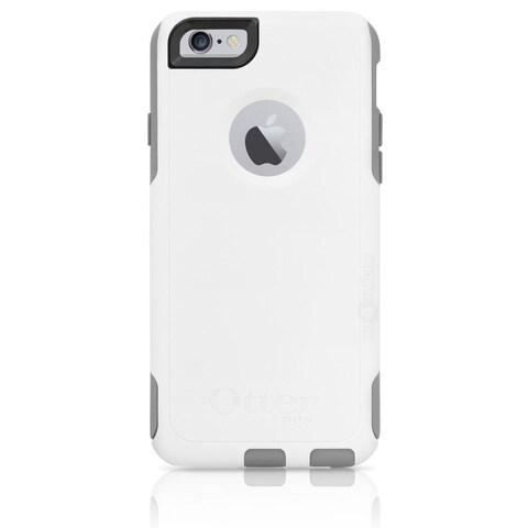 """Brand NEW OtterBox Commuter Series Case for iPhone 6 (4.7"""") w/ Screen Protector White/Grey"""