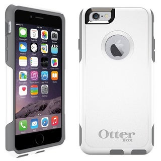 "Brand NEW OtterBox Commuter Series Case for iPhone 6 (4.7"") w/ Screen Protector White/Grey