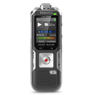 Philips DVT6000 Voice Tracer Digital Voice Recorder (Black) with 3-Mic Auto Zoom Plus with 8GB Deluxe Accessory Bundle