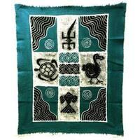 Handmade Four Creatures Batik in Blue/Black (Zimbabwe)