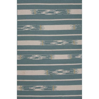 Flatweave Tribal Blue/ Ivory Area Rug (5' x 8')