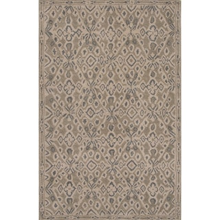 Hand-tufted Tribal Pattern Brown/ Brown Area Rug (8x11)