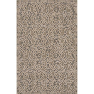 Hand-tufted Tribal Pattern Brown/ Brown Area Rug (2x3)