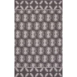 Flatweave Argyle Pattern Grey/ Ivory Area Rug (2' x 3')