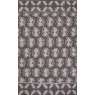 Flatweave Argyle Pattern Grey/ Ivory Area Rug (8' x 11')