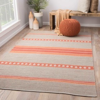 Flatweave Argyle Pattern Grey Area Rug (5' x 8')