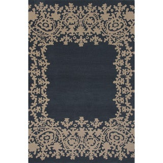 Hand-tufted Argyle Blue Area Rug (2' x 3')