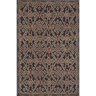 Hand-tufted Argyle Black Area Rug (5' x 8')