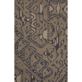 Hand-tufted Argyle Pattern Brown/ Brown Area Rug (5' x 8')