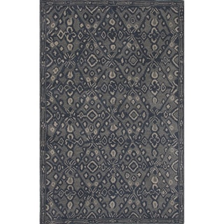 Hand-tufted Argyle Pattern Blue Rug (5' x 8')