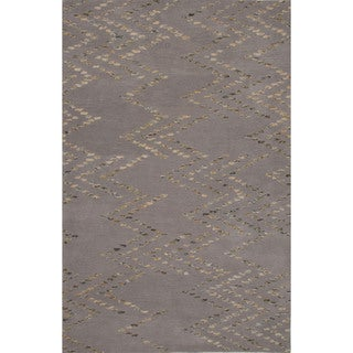 Hand-tufted Argyle Pattern Grey/ Grey Area Rug (2' x 3')