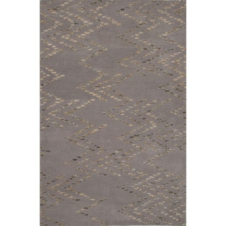Hand-tufted Argyle Pattern Grey/ Grey Area Rug (8' x 11')