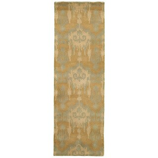 "Majestic Brown/ Blue Runner (2'5"" x 7'9"")"