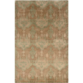 "Majestic Brown/ Blue Runner (3'6"" x 5'6"")"