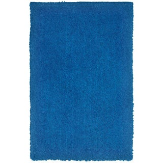 "Senses Shag Blue Rectangle Area Rug (7'9"" x 9'9"")"