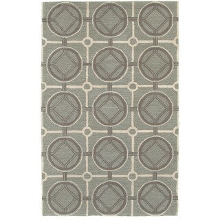 "Luxor Smoke Blue Area Rug (3'6"" x 5'6"")"
