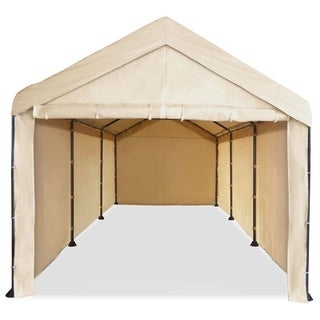 caravan canopy mega domain carport full sidewall kit - Outdoor Canopies