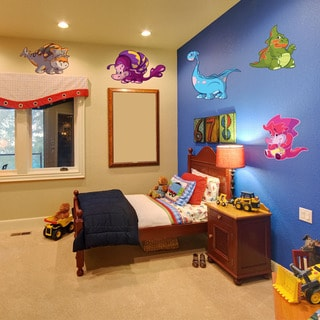 Colorful Baby Dinosaur Vinyl Decal Set
