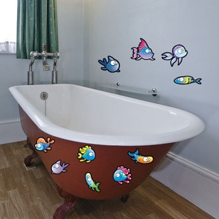 Colorful Fish Vinyl Decal Set