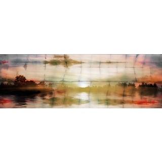 Parvez Taj 'Painted Sunset' Canvas Art