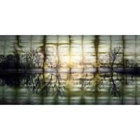 Parvez Taj 'Reflections at Sunset' Aluminum Art - Multi