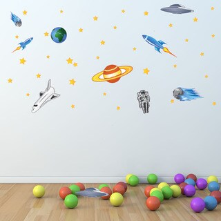 Colorful Space Themed Vinyl Decal Set