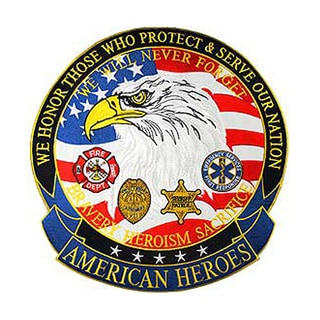 U.S. American Heroes 12-inch Large Embroidered Patch