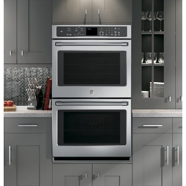 double wall oven cabinet size gas 24 self cleaning cafe series stainless steel sears electric