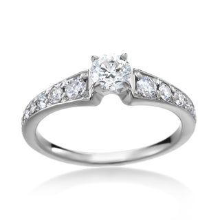 SummerRose 14k White Gold 4/5ct TDW Diamond Solitaire Engagement Ring
