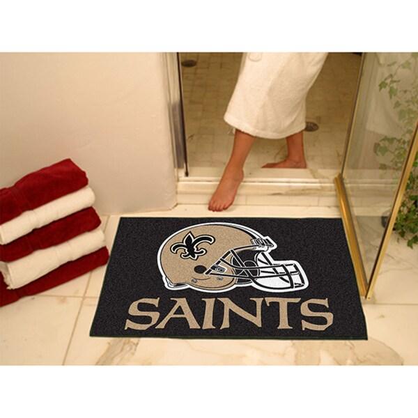 Fanmats New Orleans Saints Black Nylon Allstar Rug (2'8 x 3'8)